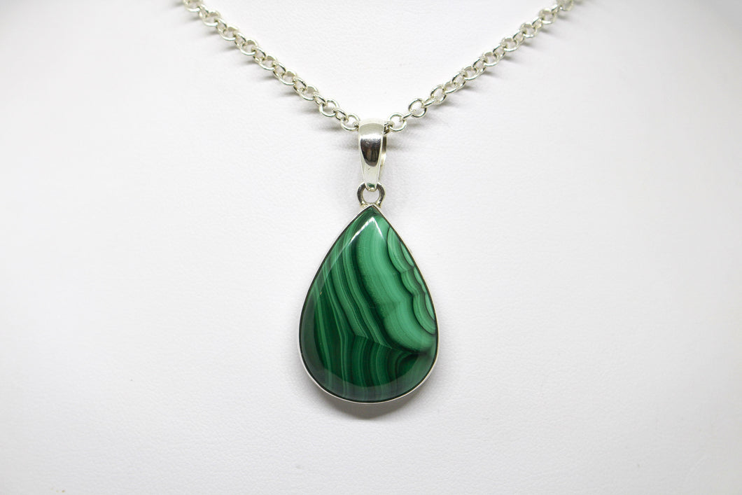 SS Malachite Necklace