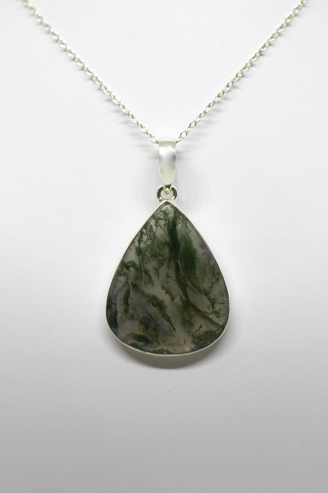 SS Moss Agate Necklace