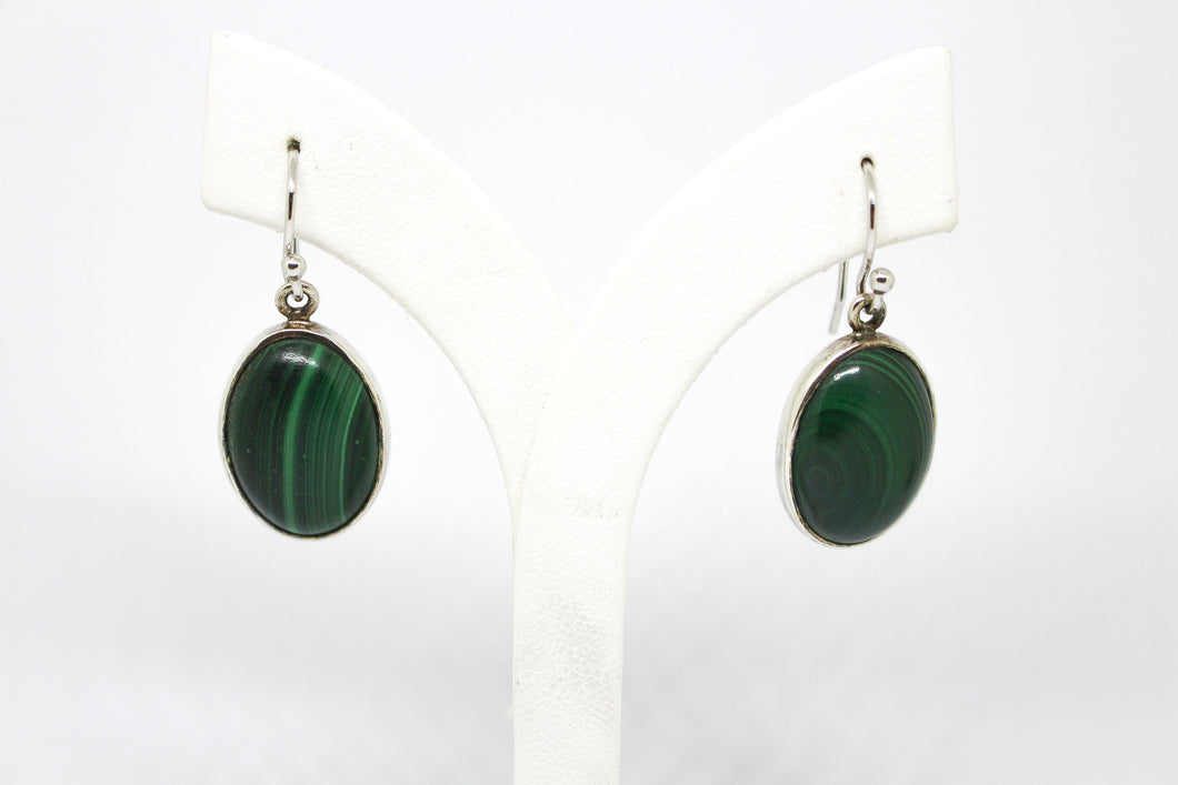 SS Malachite Earrings