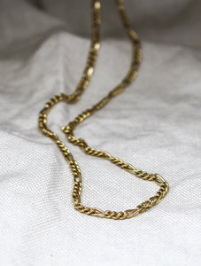 18ct YG 3mm Twisted Figaro 3+1 Chain