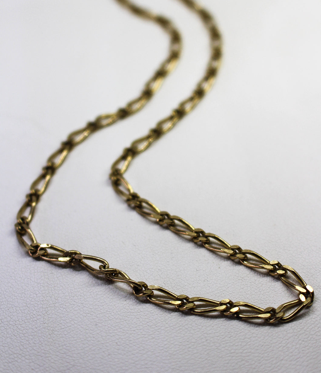 9ct YG 4mm Figaro 1+1 Chain