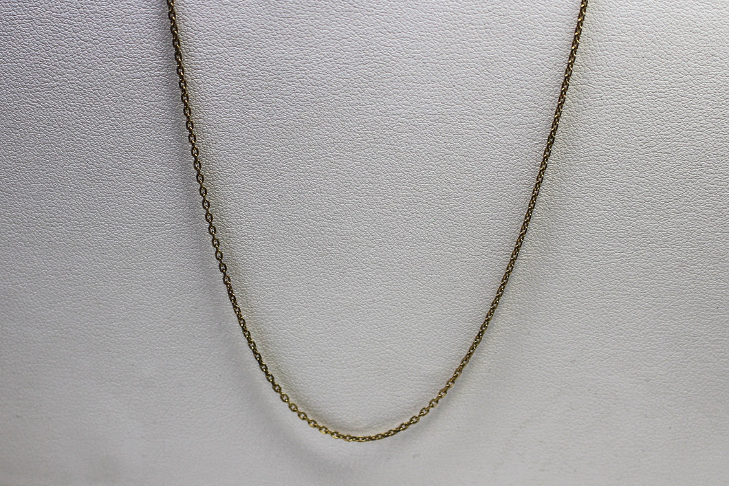 9ct YG Long Cable Chain