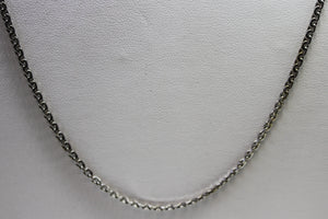 9ct WG Anchor chain
