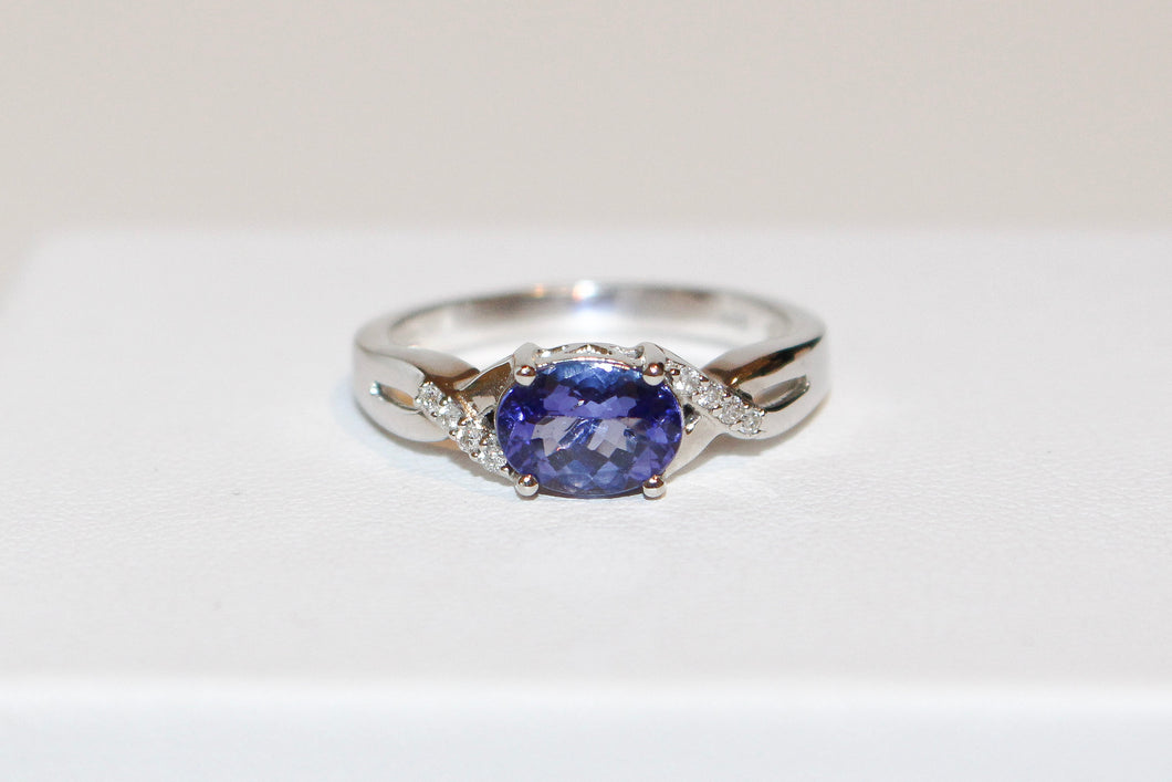 14ct Diamond & Tanzanite Ring