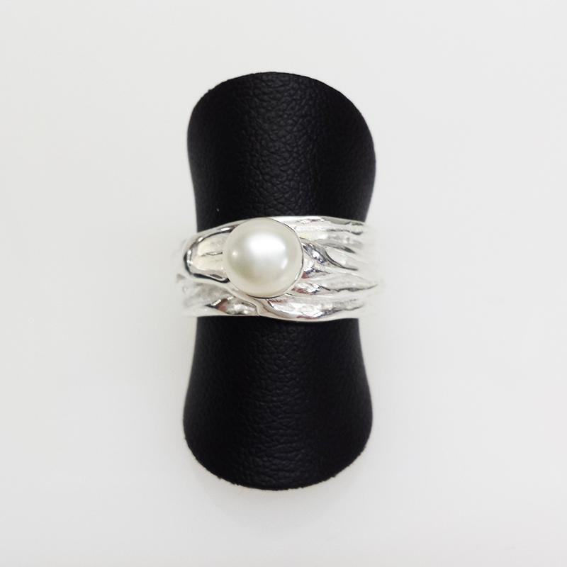 SS Fresh Water Pearl Ring