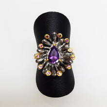 Load image into Gallery viewer, SS Amethyst Ring