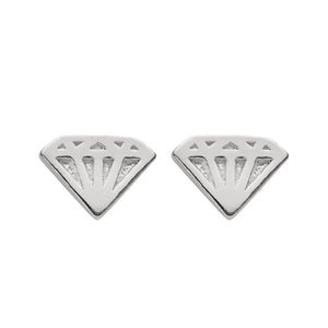 Sterling Silver Diamond Shape Studs