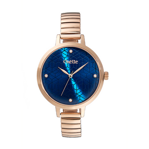 Oxette Voyage Blue dial STS Watch Rose Gold / Blue