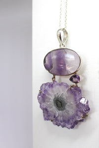 Sterling Silver Amethyst & Stalactite Pendant