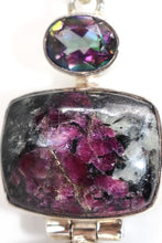 Load image into Gallery viewer, SS Mystic Quartz & Eudialyte Pendant
