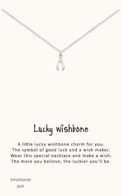 SS Lucky Wishbone Necklace