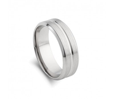 Stainless Steel Matte and Polished Ring