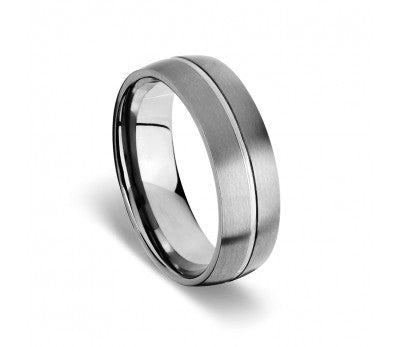 Blaze Infinity Titanium Men's Matte Polish Ring