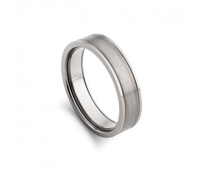 Blaze Infinity Titanium Ring Matte & Shiny Finish