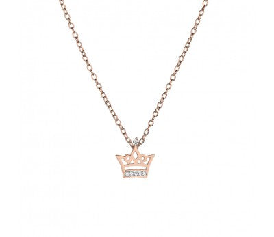 Tiny Treasures Sterling Silver Crown Necklace
