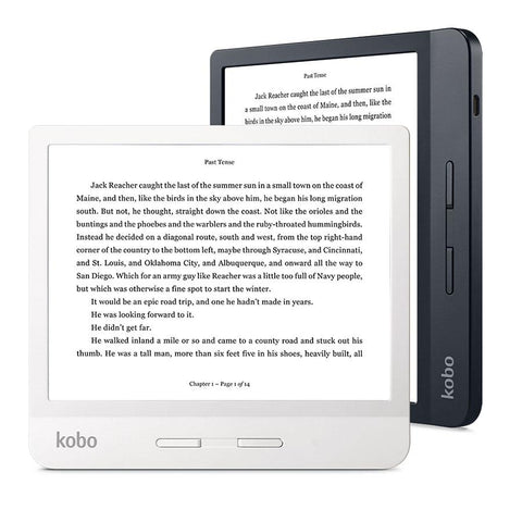 Kobo Libra H2O in white and black and in landscape and portrait
