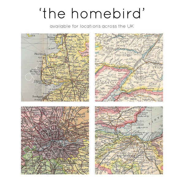'Staying home' personalised map keepsake