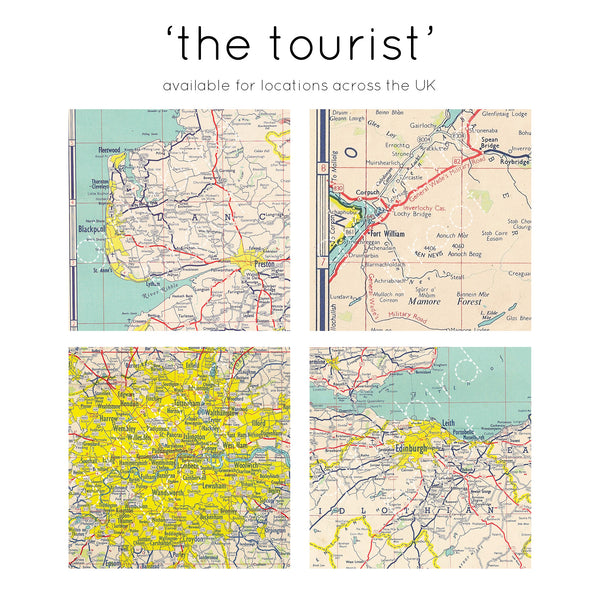 Your favourite place personalised map keepsake