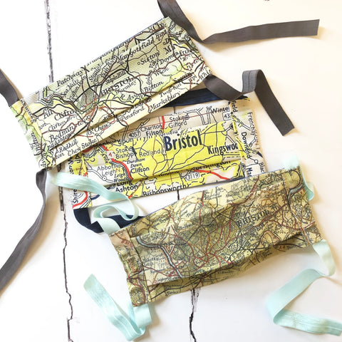 Personalised map non-medical face masks