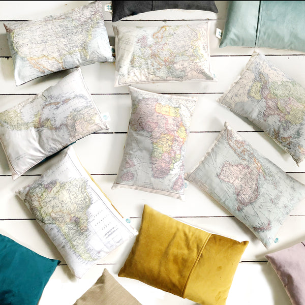 Personalised Joined Locations Map Cushion