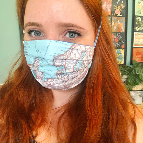 Europe map non-medical face masks