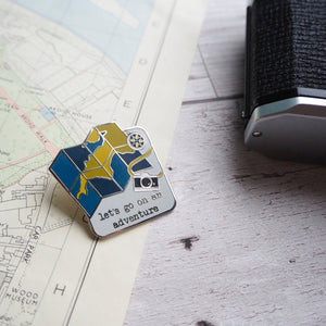 'Let's go on an adventure' enamel pin