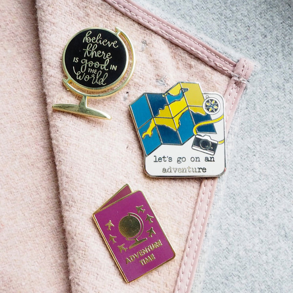 'Be the good in the world' enamel pin