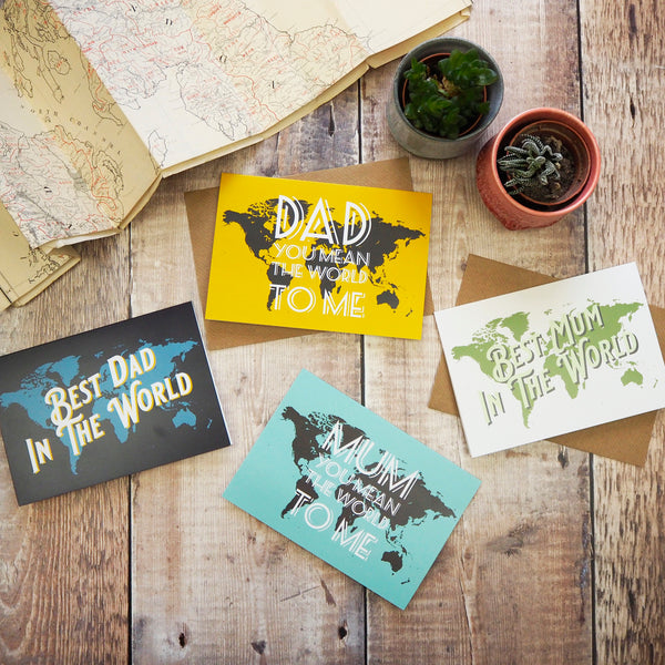 You are my greatest adventure - map greetings card