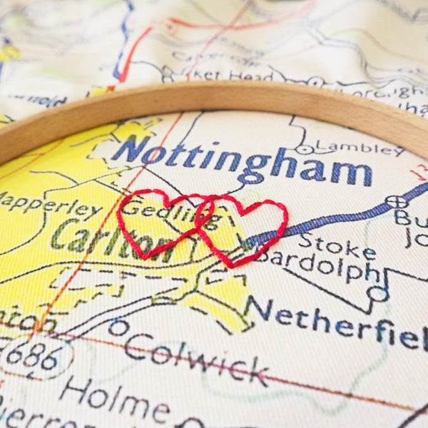 Personalised double sided vintage map cushion cover