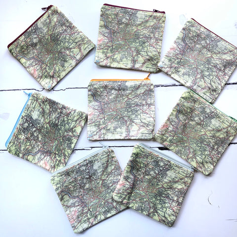 Bristol map mini purses