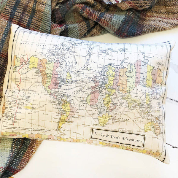 Map of the world, Europe or USA with printed message
