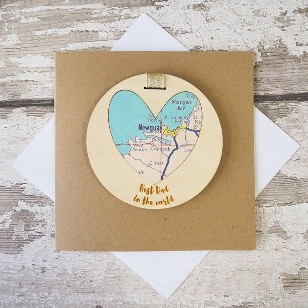 'Best Dad/Daddy/Grandad in the world' personalised map keepsake