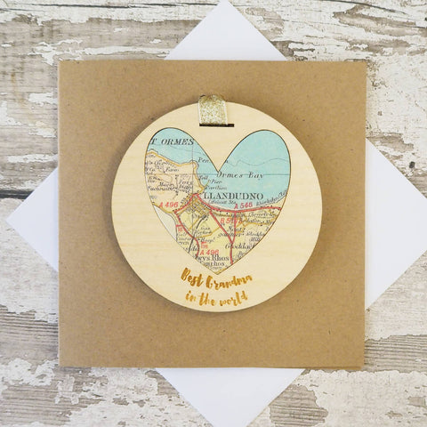 'Best Mum/Mummy/Grandma in the world' personalised map keepsake