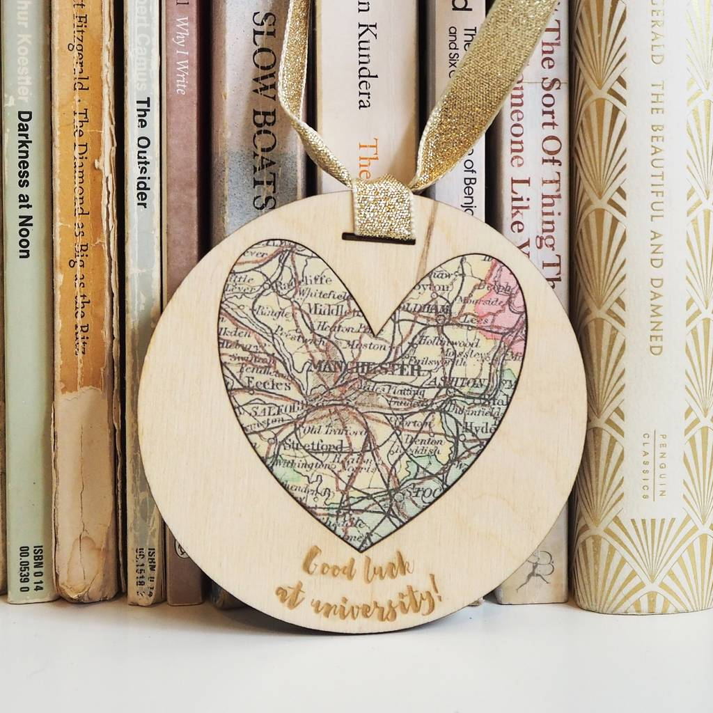 'Good luck at university' personalised map keepsake