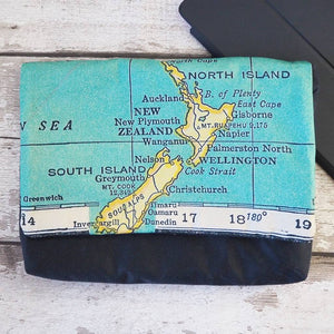 Tablet case with personalised vintage map print
