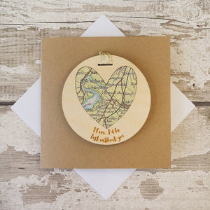 'Mum/Mummy/Grandma, I'd be lost without you' personalised map keepsake