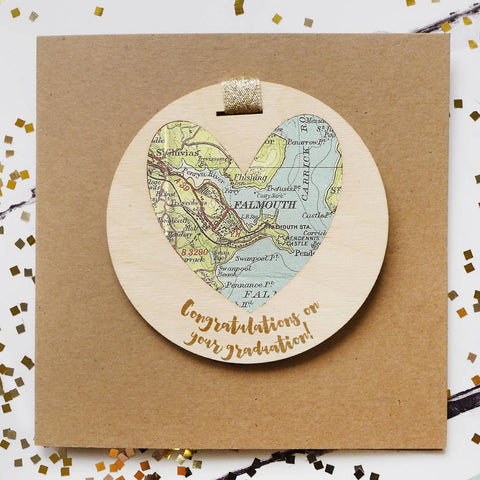 'Congratulations on your graduation' personalised map keepsake