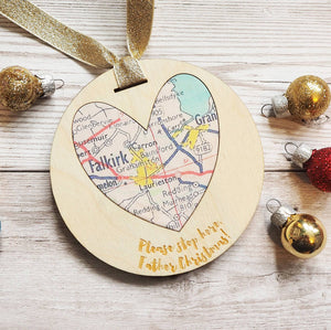 'Please stop here, Father Christmas!' personalised map keepsake