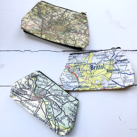 Bristol map wash bags