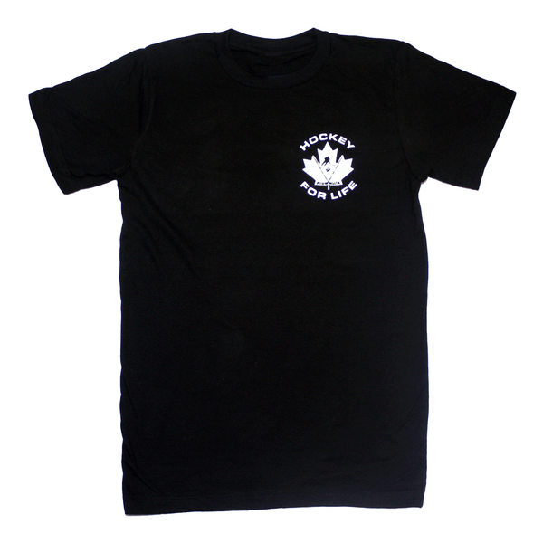 Hockey For Life - Black T - Frocked Up Clothing Co.