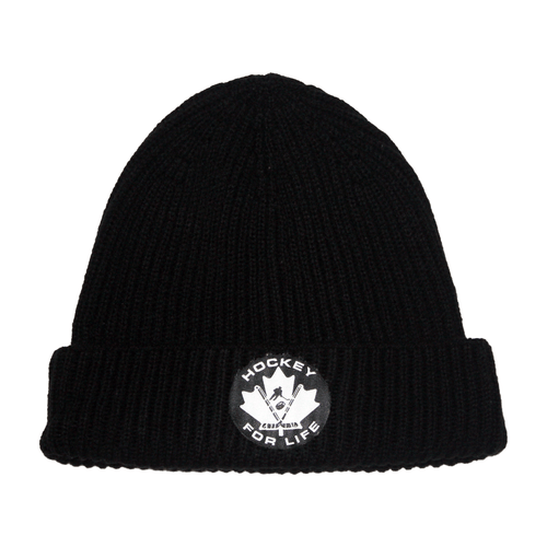Hockey For Life Toque - Black and White - Frocked Up Clothing Co.