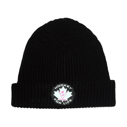 Hockey For Life Toque - Pink - Frocked Up Clothing Co.