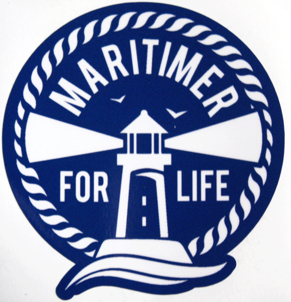 Maritimer for Life Stickers - Blue - 2 for $5 - Frocked Up Clothing Co.
