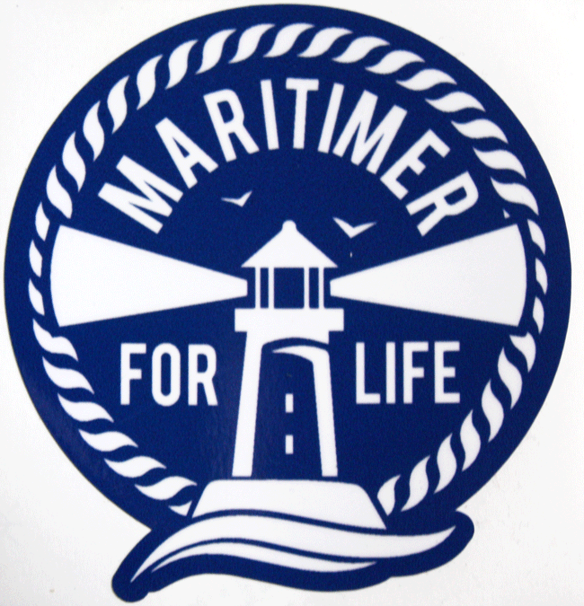 Maritimer for Life Sticker - Blue - Frocked Up Clothing Co.