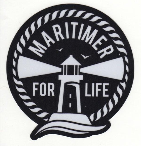 Maritimer for Life Sticker - Black and White - Frocked Up Clothing Co.