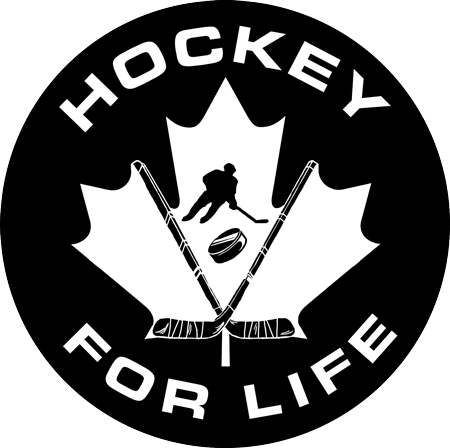 Hockey for Life Sticker - BW - Frocked Up Clothing Co.