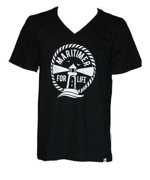 MFL Black and White T - V-Neck 100% Organic Cotton - Frocked Up Clothing Co.