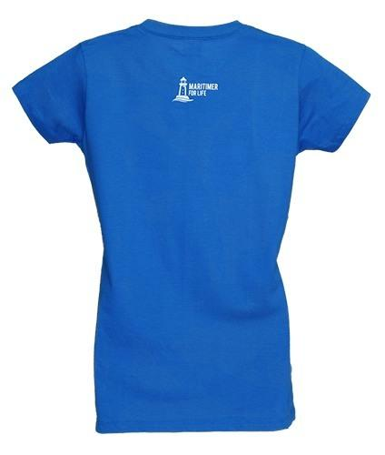 Women's Electric Blue T - 100% Organic Cotton - Frocked Up Clothing Co.