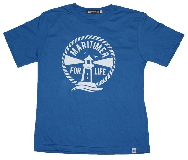 Youth Electric Blue T - 100% Organic Cotton - Frocked Up Clothing Co.