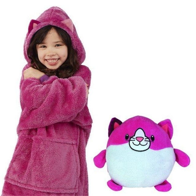 A Comfortable Hoodie That Can Turn Into Your Kid's Pet & Pillow